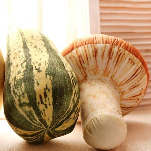 "Creative Stuffed Throw Pillow Gift /Unique Plush Soft Toy (Fun Unusual) [Vegetables /Mushroom 11.8""]"