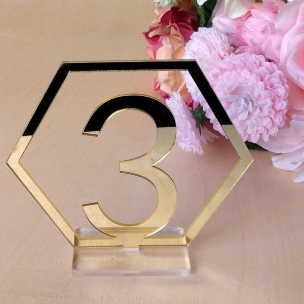 Table Number Stands  Signs  Rustic Country Vintage Wedding Decor (Gold) Charmerry a06