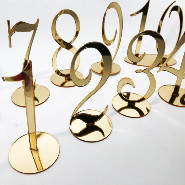 Table Number Stands  Signs  Rustic Country Vintage Wedding Decor Gold (Set of 10, 20, 30) Charmerry a02