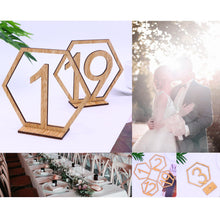 Load image into Gallery viewer, Table Number Stands  Signs  Rustic Country Vintage Wedding Decor (Wood 1-20) Charmerry a01