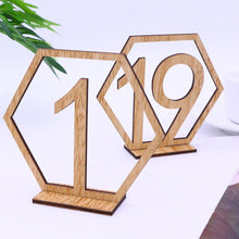 Load image into Gallery viewer, Table Number Stands  Signs  Rustic Country Vintage Wedding Decor (Wood 1-20) Charmerry a03