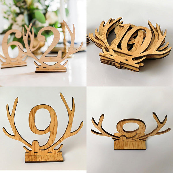 Table Number Stands  Signs  Rustic Country Vintage Wedding Decor (Wooden 1-20) Charmerry a02