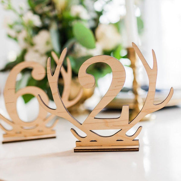 Table Number Stands  Signs  Rustic Country Vintage Wedding Decor (Wooden 1-20) Charmerry a03