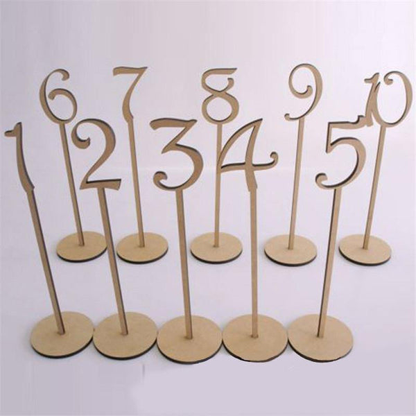 Table Numbers 1-20 (Set of 20) [Rustic Wedding /Wood]