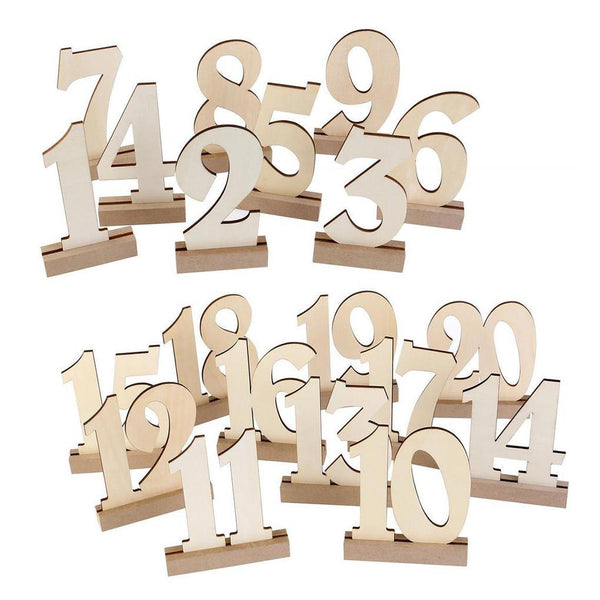 Table Numbers 1-20 (Wood Table Signs /Rustic Wedding /Simple &Elegant)