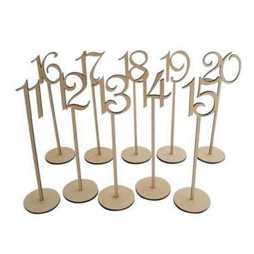 Table Numbers 11-20 (Set of 10) [Rustic Wedding /Wood]