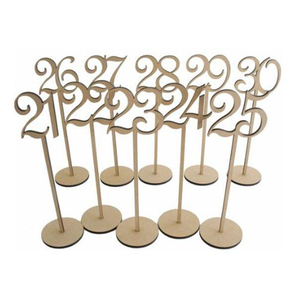 Table Numbers 21-30 (Set of 10) [Rustic Wedding /Wood] - CHARMERRY