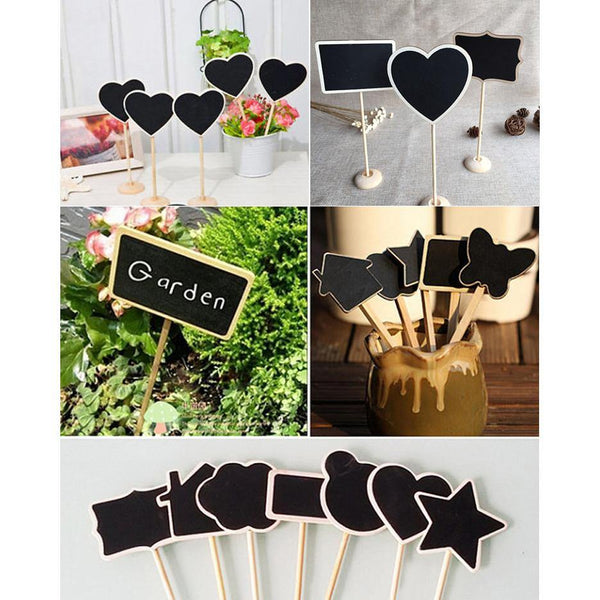 Table Numbers /Table Signs (Wood /Rustic Wedding /Chalkboard Blackboard) [Set of 10 /7 Styles]