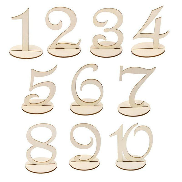Table Numbers for Wedding Party Decorations (Romantic Rustic Theme /Vintage) [1 to 10]