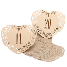 Load image into Gallery viewer, Table Numbers for Wedding [Rustic Vintage Baroque Theme] (11 to 20 Table Cards) 10pcs/set [Natural] - CHARMERRY