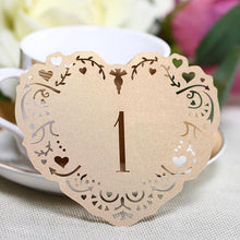Load image into Gallery viewer, Wedding Party Table Numbers [Rustic Vintage Baroque Theme] (1 to 10 Table Cards) 10pcs/set [Natural] - CHARMERRY