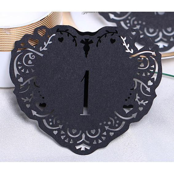 Table Numbers for Wedding Party [Rustic Theme /Vintage /Baroque] (1 to 10 Table Cards) 10pcs/set - CHARMERRY