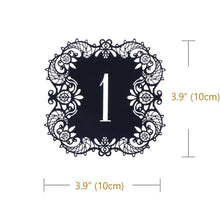 Load image into Gallery viewer, Table Numbers for Wedding Party [Rustic Theme /Vintage /Baroque] (1 to 10 Table Cards) 10pcs/set - CHARMERRY