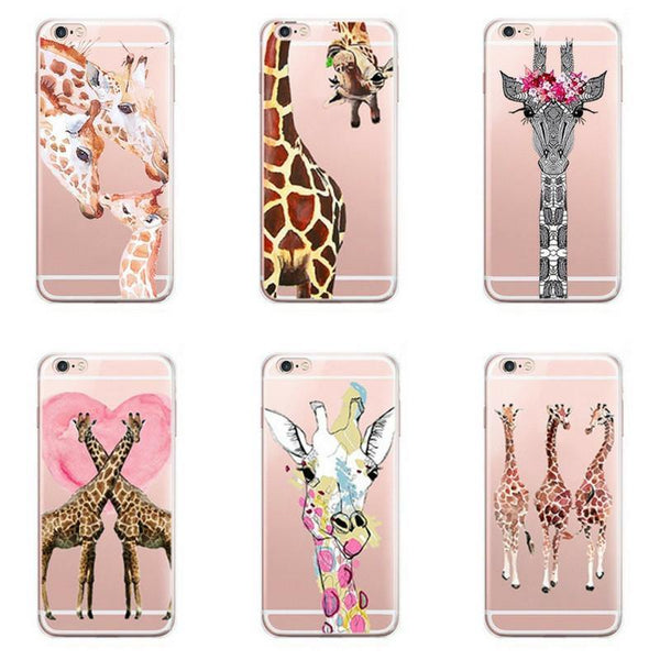 iPhone 7 Plus -Giraffe iPhone7 Case (Scratch, Shock &Drop Protection)