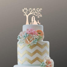 Load image into Gallery viewer, dog-topper-cat-wedding-cake-image