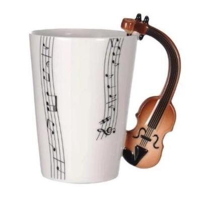 Violin Coffee Mug (Musical Instrument Gift for Musicians & Music Lovers)
