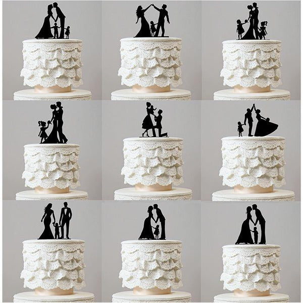 Wedding Cake Topper (Family Children Boy Girl Baby Son Daughter Kids)