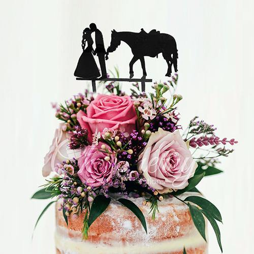 Wedding Cake Topper (Romantic Kiss &Hand-holding /Bride Groom &Horse)