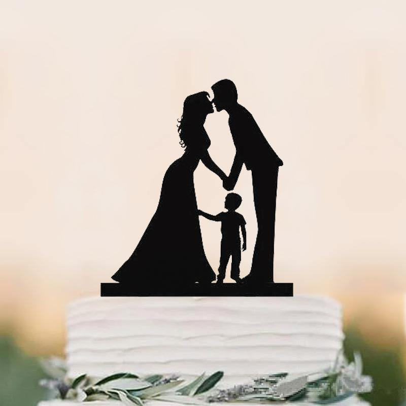 Wedding Cake Topper (Son Boy Child Children Family Engagement Anniversary) charmerry