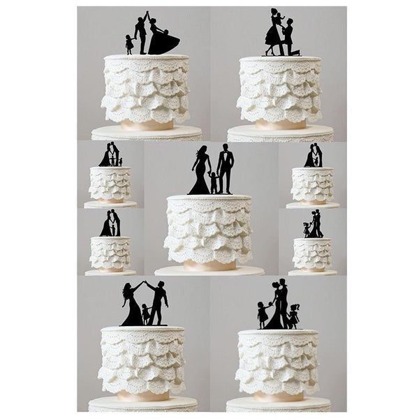 Wedding Cake Topper (Family Son Daughter Baby Kids Children Boy Girl)