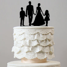 Load image into Gallery viewer, Wedding Cake Topper (Son Daughter Boy Girl Children Kids) [4 Family Members]
