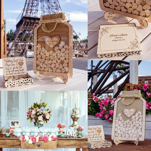 Wedding Guest Book | Personalised Customized Guestbook Keepsakes (50-Piece Set) Charmerry c06