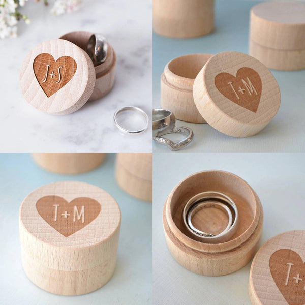 Wedding Ring Box  Customized Engagement Ring Holder, Ring Bearer  Proposal Ring Box, Keepsake Gift Box (Wood) Charmerry a0