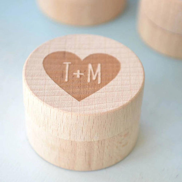 Wedding Ring Box  Customized Engagement Ring Holder, Ring Bearer  Proposal Ring Box, Keepsake Gift Box (Wood) Charmerry a05