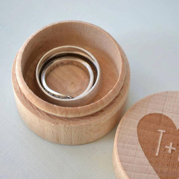 Wedding Ring Box  Customized Engagement Ring Holder, Ring Bearer  Proposal Ring Box, Keepsake Gift Box (Wood) Charmerry a02