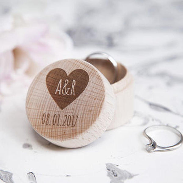 Wedding Ring Box  Customized Engagement Ring Holder, Ring Bearer  Proposal Ring Box, Wood Keepsake Gift Box Charmerry A01