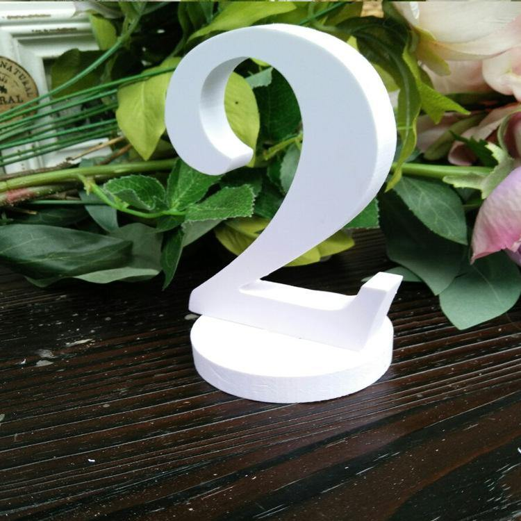 Wedding Table Numbers [White, Simple &Elegant /Romantic /Beautiful] (Set of 5,10,15,20)