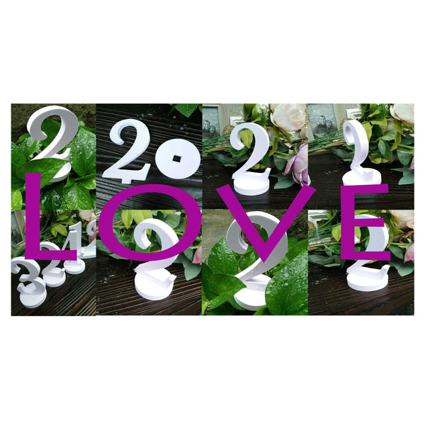 Wedding Table Numbers 1-10 [White, Simple &Elegant /Romantic /Beautiful] (Set of 10)
