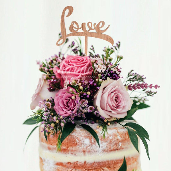 Wood Wedding Cake Toppers (Simple & Elegant /Rustic /Vintage) [Love]