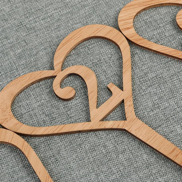 Wood Wedding Table Numbers 1-10 (Rustic Vintage Country Themes /Simple &Elegant) [Love Heart Shape]