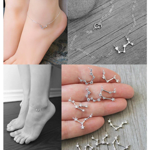 Zodiac Constellation Anklets - Ankle Bracelets & Chains | Foot Jewelry Gifts Charmerry a05