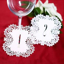 Table Numbers for Wedding Party [Rustic Theme /Vintage /Baroque] (1 to 10 Table Cards) 10pcs/set