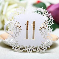 Numbers for Wedding Party [Romantic Rustic Theme /Vintage /Baroque] (11 to 20 Table Cards) 10pcs/set