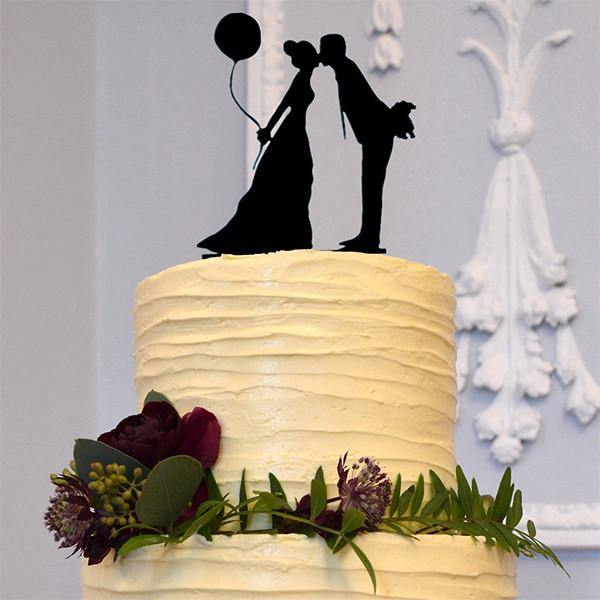 Engagement /Wedding Cake Topper (Groom bride kiss /Pretty &Cute, Romantic)
