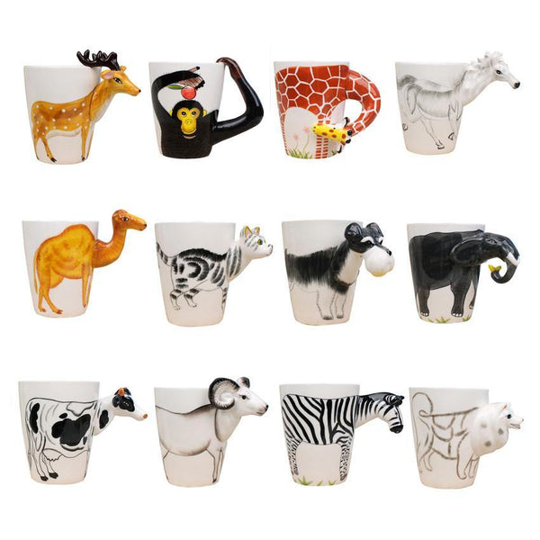 Cow Coffee Mug -Unique Ceramic Tea Cup (Special Gifts, Creative &Novelty)