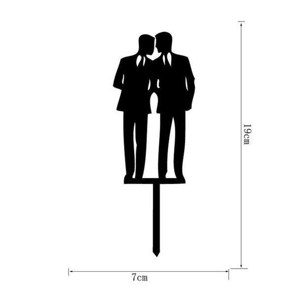 Wedding Cake Topper Decoration (Homosexual /Gay Marriage /Same-Sex Love /Engagement)