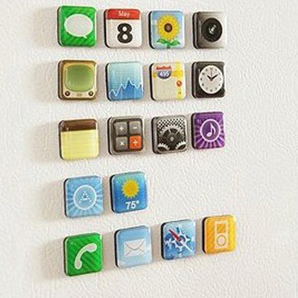 Apple Iphone App Fridge Magnet (18 pieces) - Charmerry