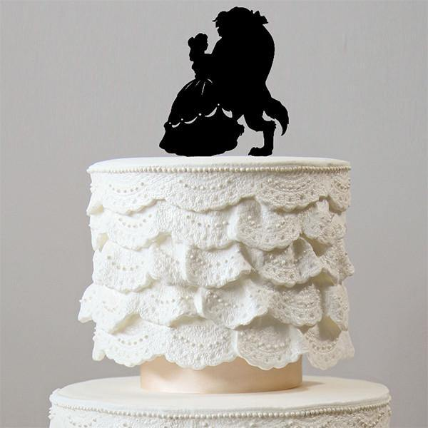 Beauty And The Beast Wedding Cake Topper (Engagement /Bridal Shower Party)