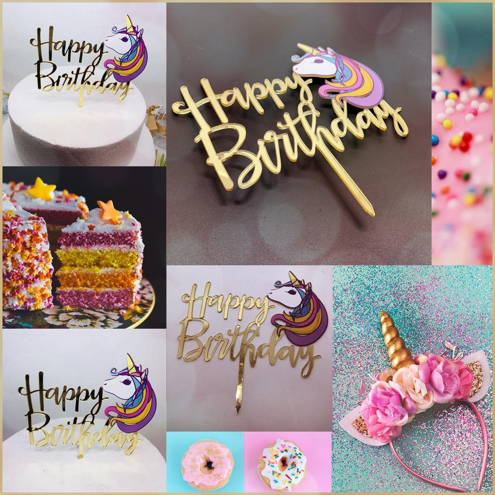 Birthday Cake Toppers My Little Pony Unicorn Decorating Party Decorations Cute Pretty Lovely Sweet Cuddly