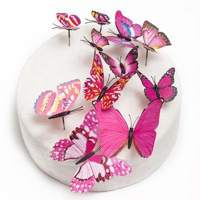 Butterfly Cake Toppers (Rustic /Vintage /Fantasy Wedding Decorations) [12/Set] - CHARMERRY