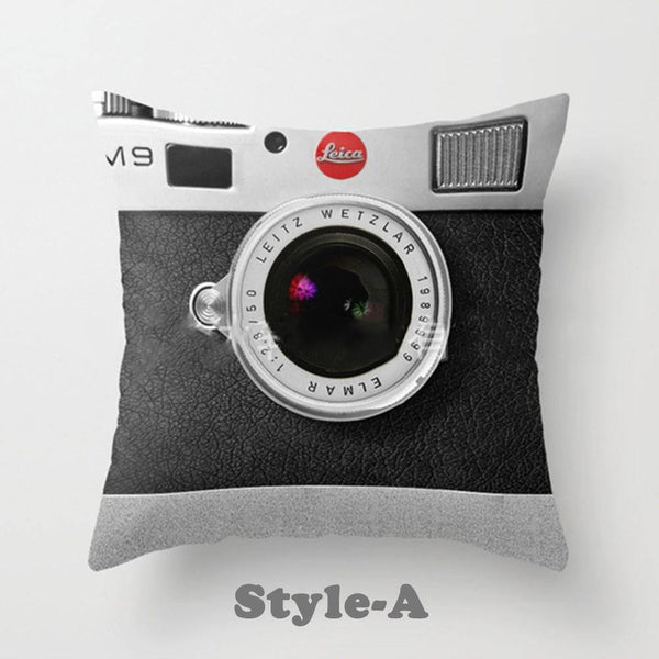 3D Camera/ Leica Cushion Cover/ Pillowcase Creative Decoration