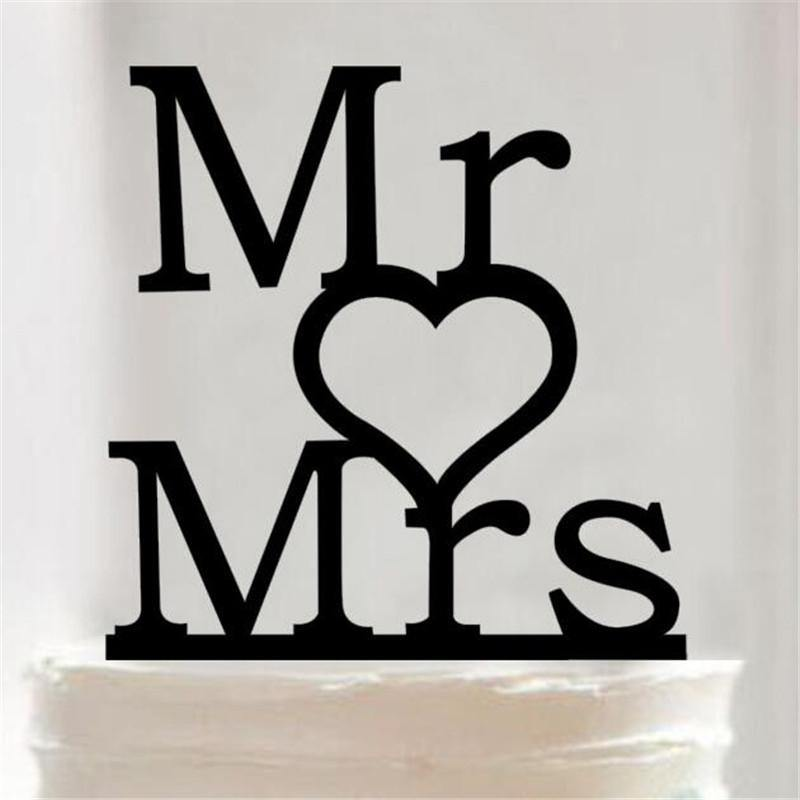 Wedding Cake Topper /Anniversary Cake Decoration (Mr Love Mrs /Sweet Heart) - CHARMERRY