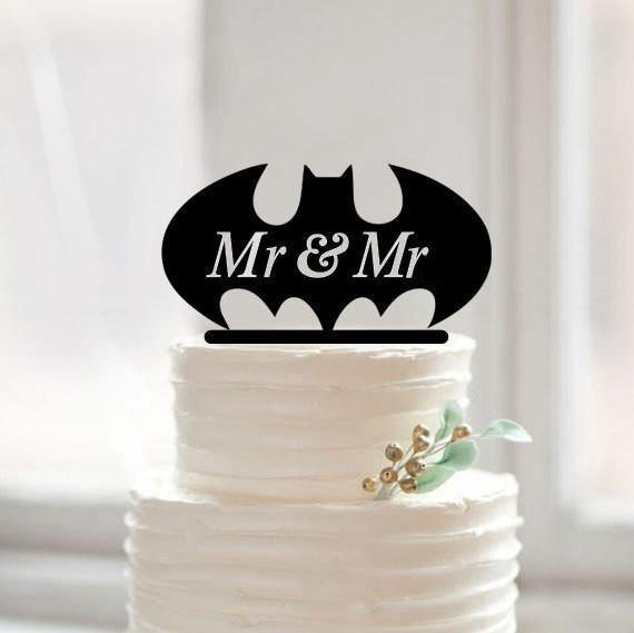 Gay Wedding Cake Topper (Homosexual /Same-Sex Love /Gay Marriage /Mr & Mr) - CHARMERRY