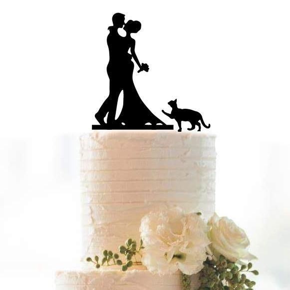 Anniversary Cake Topper /Wedding Cake Decoration (for Pet &Cat Lovers)