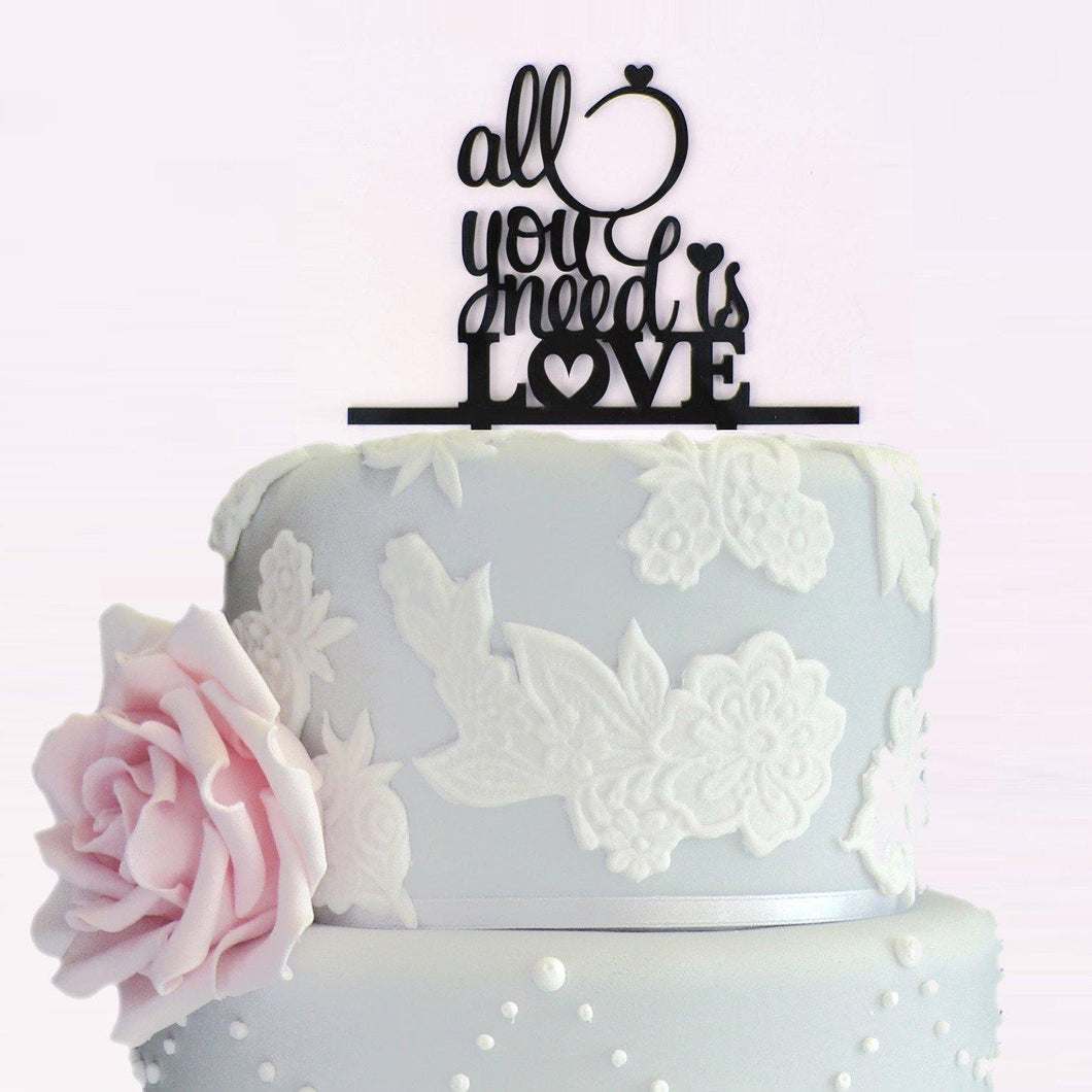 Creative Wedding Cake Topper /Cake Decoration (All you need is Love) - CHARMERRY