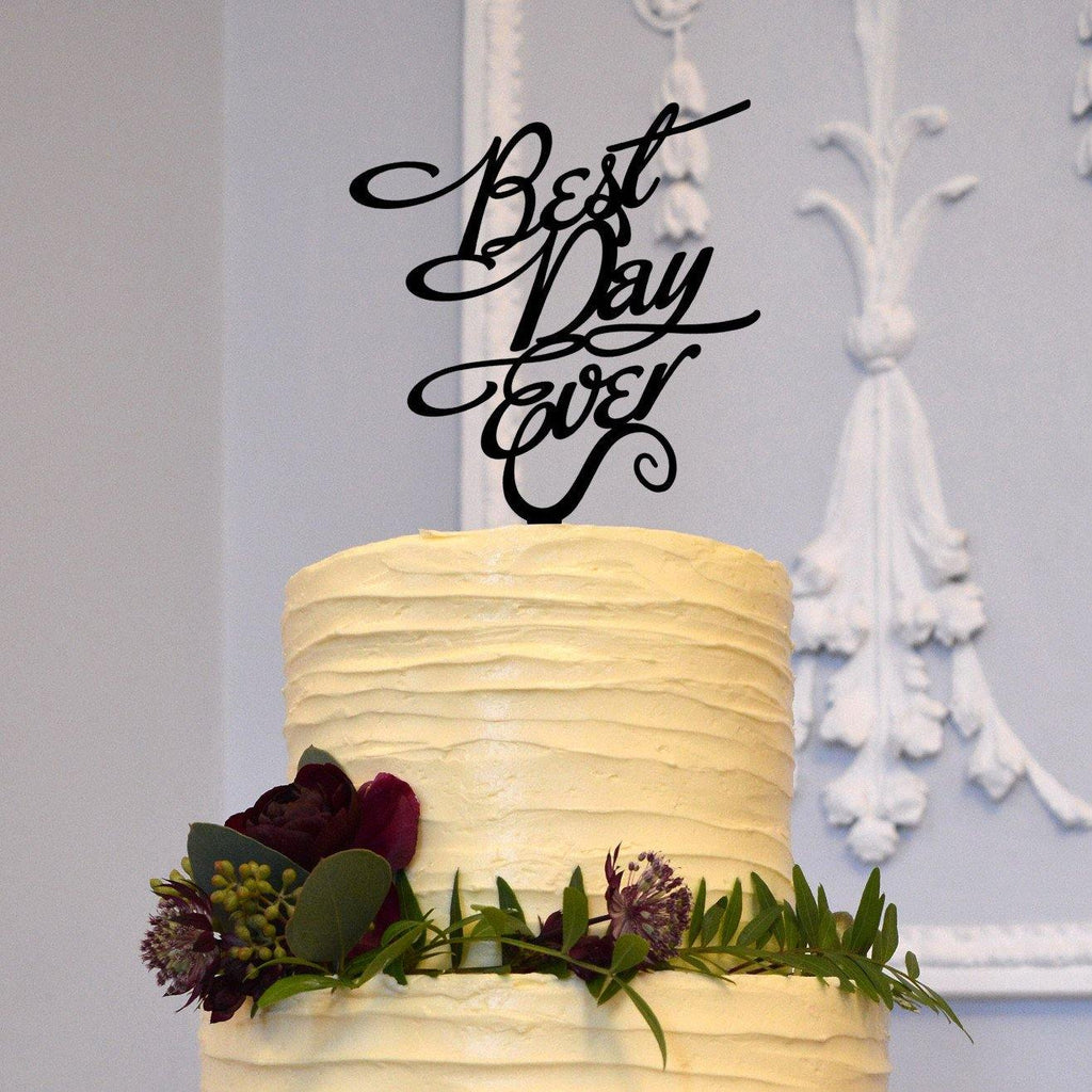 Romantic Cake Topper Decoration for Engagement &Wedding (Best Day Ever)